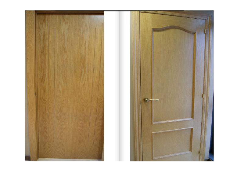 Puertas madera clara friso | Don Carpintero