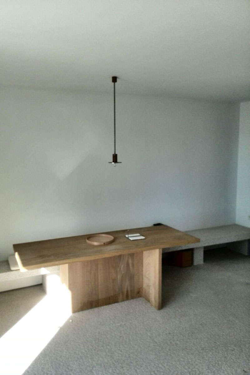 Mesa de madera de dise o carpinteros en pontevedra don - Mesa madera diseno ...